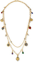 "Jose & Maria Barrera Long Double-Strand Charm Necklace, 38""L"