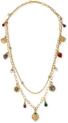 "Jose & Maria Barrera Long Double-Strand Charm Necklace, 38""L"