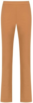 Gloria Coelho High Rise Straight-Fit Trousers
