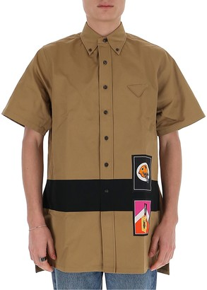 Prada Logo Patch Short Sleeve Shirt