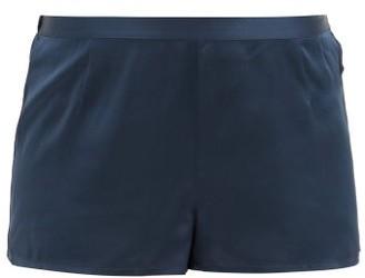 La Perla Silk-satin Pyjama Shorts - Dark Blue