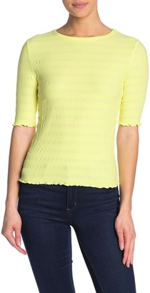 Elodie K Elbow Sleeve Ribbed Top