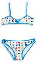 Milly Minis Toddler's & Little Girl's Pixel Print Two-Piece Bikini