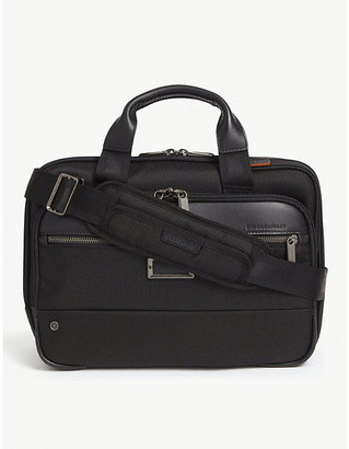 Briggs & Riley Small expandable ballistic nylon briefcase