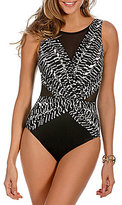 Miraclesuit Between The Pleats Palma High Neck Tummy Control DD One-Piece