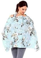 Simplicity Nursing Cover Breastfeeding Baby Blanket Poncho Cotton,White Flower
