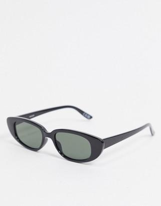 ASOS DESIGN slim cat eye sunglasses