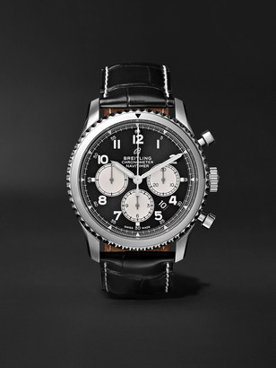 Breitling Navitimer 8 B01 Automatic Chronograph 43mm Stainless Steel, Mother-Of-Pearl And Alligator Watch, Ref. No. Ab0117131b1p1