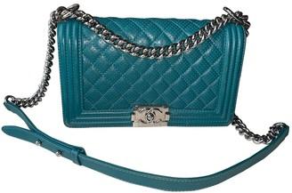 Chanel Boy Turquoise Leather Handbags