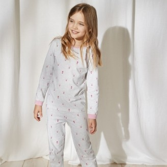 The White Company Mini-Reindeer-Print Pyjamas (1-12yrs), Pink, 7-8yrs