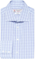 Turnbull & Asser Slim-fit multi-stripe cotton shirt