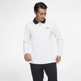 Nike Men's Long-Sleeve Polo Hurley 2 Stripe