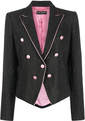Dolce & Gabbana Paisley Brocade Fitted Jacket