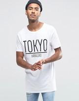 Brave Soul Long Line Tokyo T-shirt