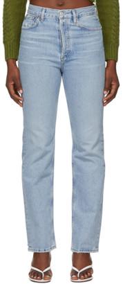 AGOLDE Blue Lana Vintage Straight Jeans