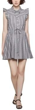 BCBGeneration Cotton Striped Fit & Flare Dress