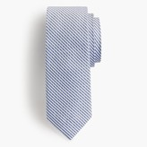 J.Crew English silk tie in seersucker