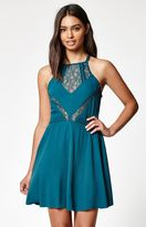 KENDALL + KYLIE Kendall & Kylie Lace Inset Goddess Neck Dress