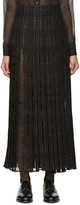 Thom Browne Black Tweed & Silk Wrap Skirt