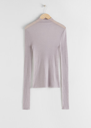 And other stories Fitted Cashmere Turtleneck Top