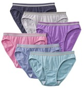 Fruit of the Loom Cotton Bikini 6 Pack - Assorted Colors