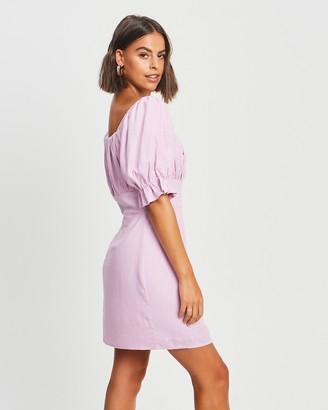 Savel - Women's Purple Mini Dresses - Moriah Mini Dress - Size 6 at The Iconic