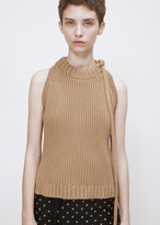 J.W.Anderson fawn tie neck halter knit