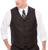 Jf J.Ferrar Black Nailhead Suit Vest - Big & Tall