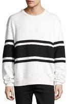 Diesel S-Pond Striped Oversized Sweatshirt