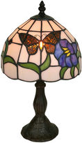 AMORA Amora Lighting AM210TL08 Tiffany Style Butterfly Finish Table Lamp 20 inches
