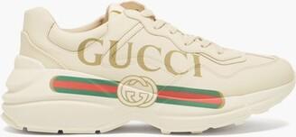 Gucci Rhyton Logo-print Leather Trainers - White Multi