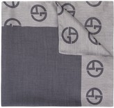 Giorgio Armani side logo colour block scarf