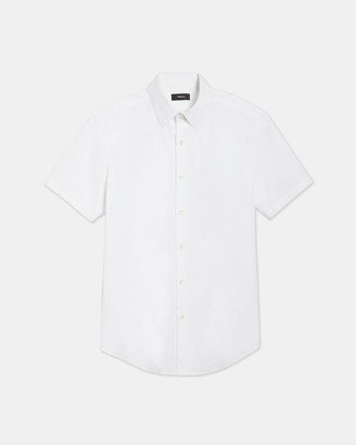 Theory Sylvain Short-Sleeve Shirt in Good Cotton