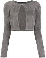 Valenti Antonino cropped long-sleeve cardigan