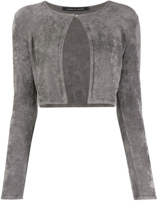 Cropped Long-Sleeve Cardigan