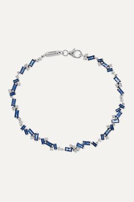 Suzanne Kalan 18-karat White Gold, Sapphire And Diamond Bracelet