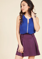 ModCloth Podcast Co-Host Sleeveless Top in Cobalt in XL
