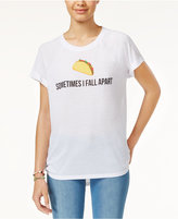 Freeze 24-7 Juniors' Taco Emoji High-Low Graphic T-Shirt