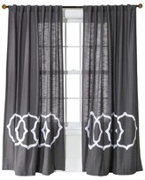 Threshold Fretwork Border Curtain Panel