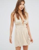 Oh My Love Grecian Mini Plunge Dress