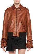 Saint Laurent Calfskin Leather Bomber Jacket