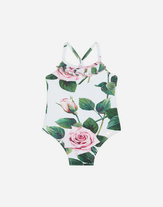 Dolce & Gabbana Tropical Rose Print Swimsuit