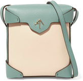 Manu Atelier - Pristine Mini Two-tone Leather And Suede Shoulder Bag - Cream