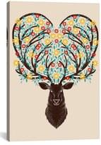 iCanvas 'Blooming Deer' Giclee Print Canvas Art