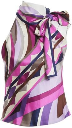 Emilio Pucci Purple Silk Top for Women