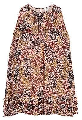 Joie Women's Crissy Multicolor Floral Silk Halter Top