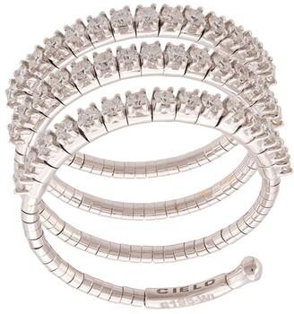 Mattia Cielo 18kt white Rugiada three wrap diamond ring