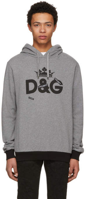 Dolce & Gabbana Grey Logo Hoodie