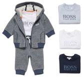 HUGO BOSS Patterned kids' sweat jacket in stretch cotton blend: 'J05519'