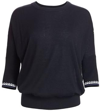 Derek Lam Printed Silk & Cashmere Dolman Sweater